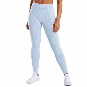 NWT Gymshark Fleur Texture Leggings Blue Sz S